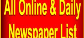 All Online & Daily Newspaper Website List